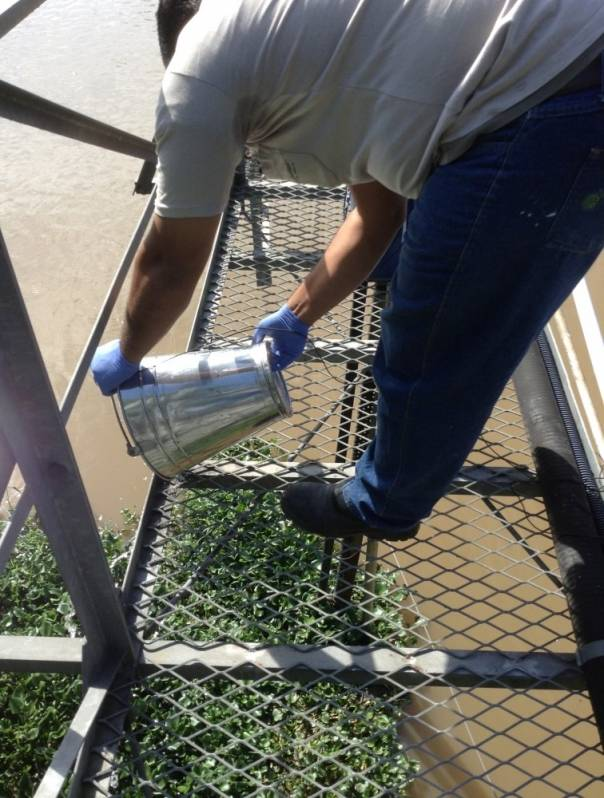 Coletas de água de Rio para Análise Mendonça - Coleta de água de Rio