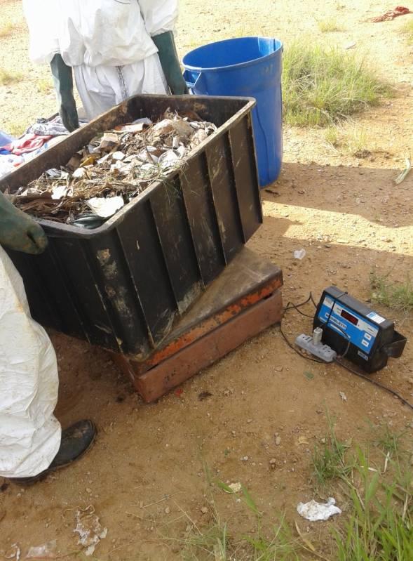 Gravimetria de Resíduos Saúde - Análise Gravimétrica do Lixo