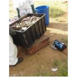análise gravimétrica de resíduos sólidos Chora Menino