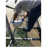 coleta de água para análise Raposo Tavares